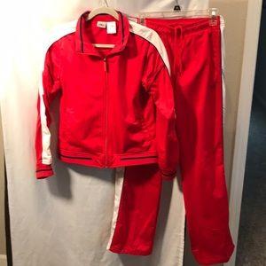 Athletic Works red/white ladies jogging suit Med